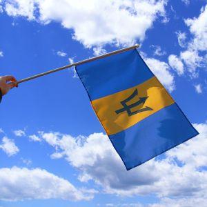 Barbados Hand Waving Flag