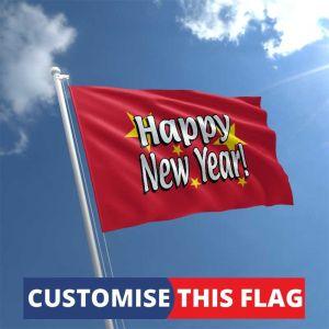 Custom Happy New Year Flag
