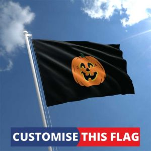 Custom Halloween Pumpkin Flag