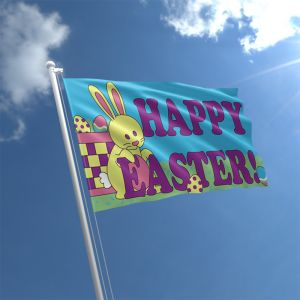 Happy Easter Flag 5Ft X 3Ft