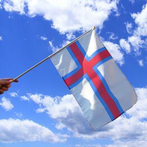 Faroe Islands Hand Waving Flag