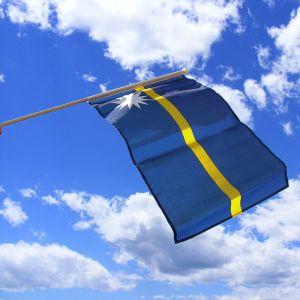 Nauru Hand Waving Flag