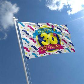 30th Birthday Flag