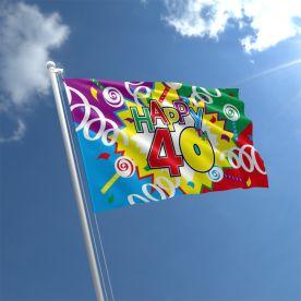 40th Birthday Flag