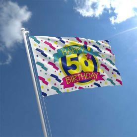 50th Birthday Flag
