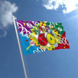 60th Birthday Flag