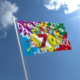 70th Birthday Flag
