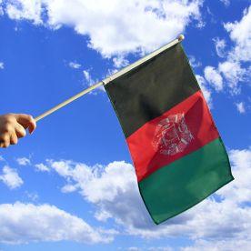 Afghanistan Hand Waving Flag