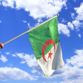 Algeria Hand Waving Flag