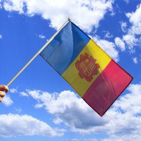 Andorra Hand Waving Flag