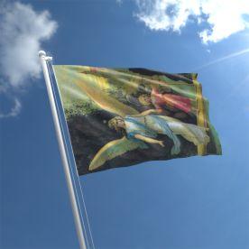 Angel With Girl Flag