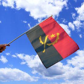 Angola Hand Waving Flag