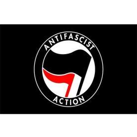 Anti Fascist Action Flag 8ft x 5ft