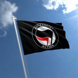 Anti Fascist Action Flag