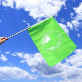African Union Hand Waving Flag