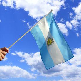 Argentina Hand Waving Flag