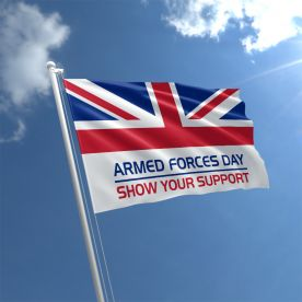 Armed Forces Day Flag 5ft x 3ft  - Rope & Toggle