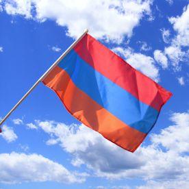 Armenia Hand Waving Flag
