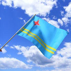 Aruba Hand Waving Flag