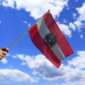 Austria Eagle Hand Waving Flag