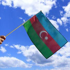 Azerbaijan Hand Waving Flag