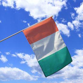 Ivory Coast Hand Waving Flag