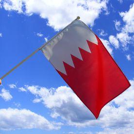 Bahrain Hand Waving Flag