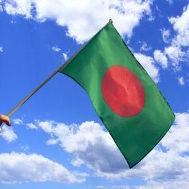 Bangladesh Hand Waving Flag
