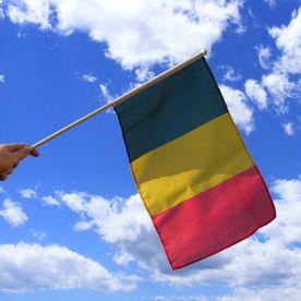 Belgium Hand Waving Flag