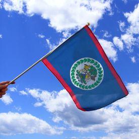 Belize Hand Waving Flag