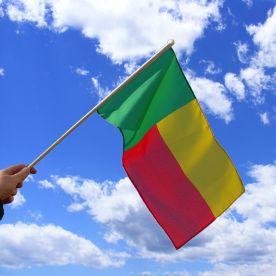 Benin Hand Waving Flag