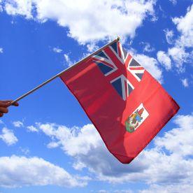Bermuda Hand Waving Flag