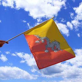 Bhutan Hand Waving Flag