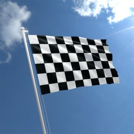 Black & White Chequered Flag - Nylon