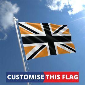 Custom Black & Gold Union Jack Flag