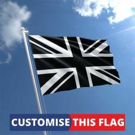 Custom Black Union Jack Flag