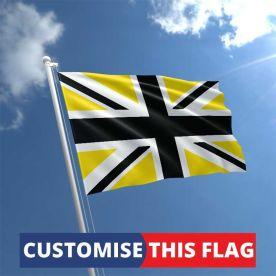 Custom Black & Yellow Union Jack Flag