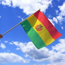 Bolivia Hand Waving Flag