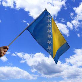 Bosnia Herzegovina Hand Waving Flag
