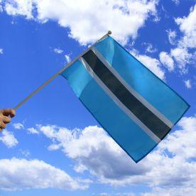 Botswana Hand Waving Flag