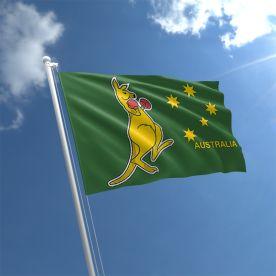 Boxing Kangaroo Flag 3Ft X 2Ft