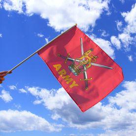 British Army Hand Waving Flag