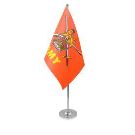 British Army table flag satin