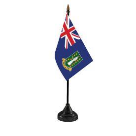 British Virgin Islands Table Flag