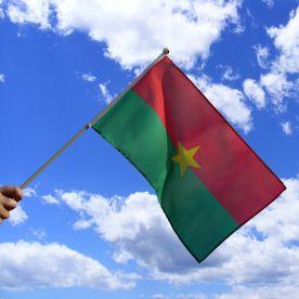 Burkina Faso Hand Waving Flag