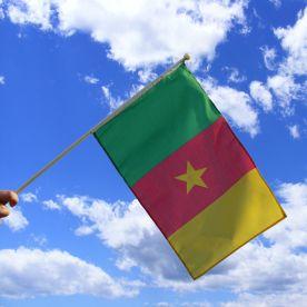 Cameroon Hand Waving Flag