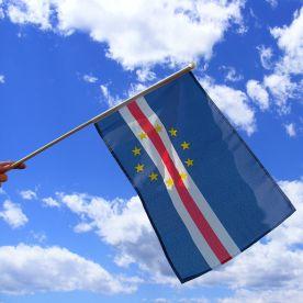 Cape Verde Hand Waving Flag