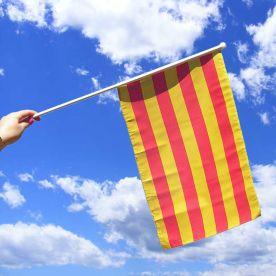 Catalonia Hand Waving Flag