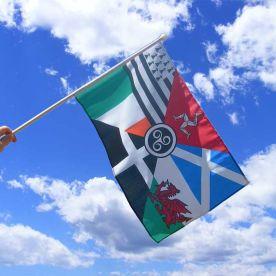 Celtic Nations Hand Flag