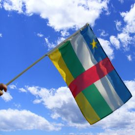Central African Republic Hand Waving Flag